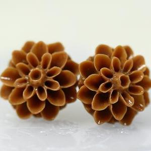 Brown Chrysanthemum Ear Posts, Brid..